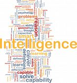 Background concept wordcloud illustration of intelligence