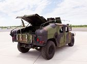 Army Camouflaged Humvee Truck