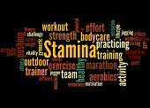 Stamina Is Staying Power Or Enduring Strength, Word Cloud 4 poster