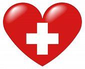 Schweizer Herz - German Heart - Coeur Suisse - Cuore Svizzero