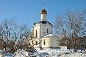 Russian church in winter