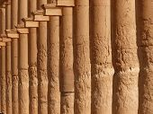 Ancient Historical Columns, Great Colonnade, Palmyra, Syria poster