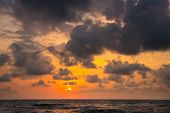 Sunset. Beautiful Sunset Black Sea. Gold Sea Sunset. Sunset Sea Waves. Summer Sunset poster
