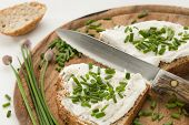Bread With Cream Cheese And Chives