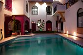 image of taxco  - Pool patio in a beautiful mexican house - JPG