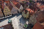 Market Place In Rothenburg Ob Der Tauber