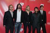 LOS ANGELES - FEB 10:  Foo Fighters arrives at the 2012 MusiCares Gala honoring Paul McCartney at LA