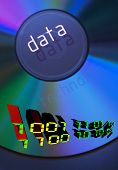 digital info, digital numbers engraved on a cd (works for cd records, saving downloading,.. etc)