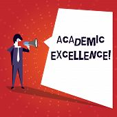 Writing Note Showing Academic Excellence. Business Photo Showcasing Achieving High Grades And Superi poster