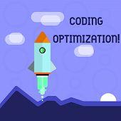 Conceptual Hand Writing Showing Coding Optimization. Business Photo Showcasing Method Of Code Modifi poster