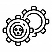 Malicious Mechanism Icon. Outline Malicious Mechanism Vector Icon For Web Design Isolated On White B poster