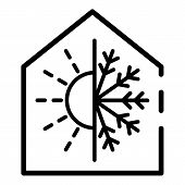 Climate Control Smart Home Icon. Outline Climate Control Smart Home Vector Icon For Web Design Isola poster