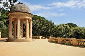 Detail of a gazebo in Parc del Laberint d'Horta in Barcelona, Spain, an eighteenth century public pa