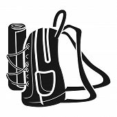 Large Backpack Side Icon. Simple Illustration Of Large Backpack Side Icon For Web Design Isolated On poster