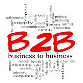 B2B Business To Business Red Scribble Concept