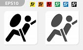 Airbag Icon Symbol. Airbag Element. Symbol. Linear Style Sign For Mobile Concept And Web Design. Air poster