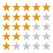 5 Star Rating Icon Vector Eps10. Rating Star Orange Star Vector Eps10. Gold Rating Stars poster