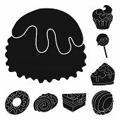 Vector Illustration Of Sweetness And Product Symbol. Set Of Sweetness And Sweet Stock Vector Illustr poster