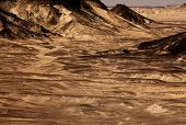 schwarze Wüste Sahara, westliche Ägypten
