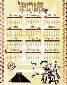 Calendar 2012 In Mayan Style With God