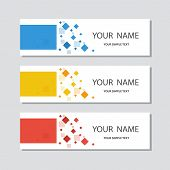 Set Of Abstract Corporate Business Banner Template, Horizontal Advertising Business Banner Layout Te poster