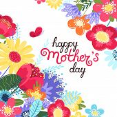 Mother S Day Greeting Card. Mother S Day Background With Hand Written Text Happy Mother S Day And Co poster