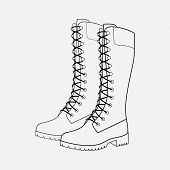 Timberland Boots Icon Line Element. Vector Illustration Of Timberland Boots Icon Line Isolated On Cl poster