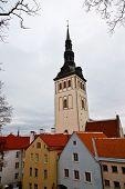 stock photo of olaf  - Saint Olaf Church in Old Tallinn in Estonia - JPG