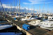 stock photo of larnaca  - Yachts in Larnaca port - JPG