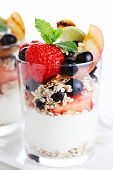 muesli with yogurt and fresh berries