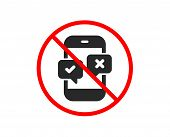No Or Stop. Phone Survey Icon. Select Answer Sign. Business Interview Symbol. Prohibited Ban Stop Sy poster