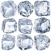 Cubes of ice on a white background. File contains the path to cut.