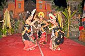 BALI - JANUARY 17: Barong and Keris dance performed by Semara Kanti. Ubud is the home of traditional