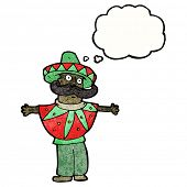 cartoon man in mexican costume