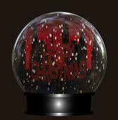 Cityscape Christmas Snow Globe