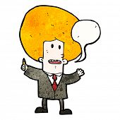 cartoon ginger businessman