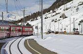 Railway Crossing At Val Bernina