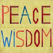 Terreno elemento fundo e design, representando as palavras de paz e sabedoria