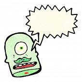 cabeça do ogro de desenhos animados