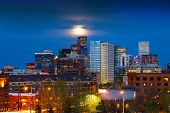 Full Moon Above Denver Colorado