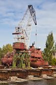 Large shipbuilding crane