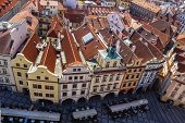 Prague, Old Town Square. View from the Town Hall tower. Czech Republic.