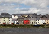 stock photo of claddagh  - View from the Claddagh Basin, across the River Corrib, towards The Long Walk in Galway, Ireland.