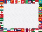 Asian Flag Icons Frame
