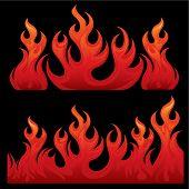 Seamless Flaming Teksture