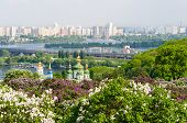 View From The Botanical Garden In Kyiv, Ukraine