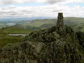 Cairn On A Mountain In The Lake District