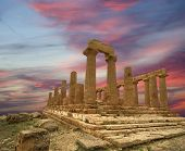 Ancient Greek Temple Of Juno (v-vi Century Bc), Valley Of The Temples, Agrigento, Sicily. The Area W
