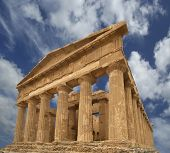 Ancient Greek Temple Of Concordia (v-vi Century Bc), Valley Of The Temples, Agrigento, Sicily