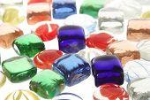 Differet Color Gems Pattern Background